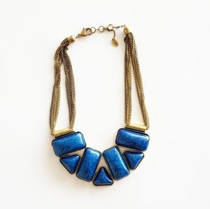 Amrita Singh Blue and Gold Statement Necklace